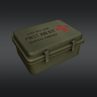 3d model of ready aid kit