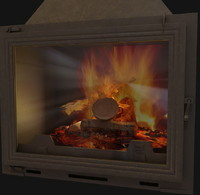 3ds max place fireplace pantherm
