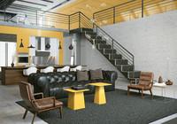 scenes loft 3d model