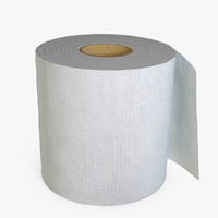 toilet paper 3d model