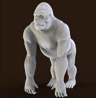 gorilla primate 3d obj
