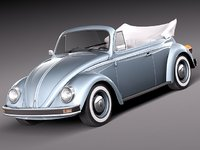 3ds max volkswagen beetle antique convertible