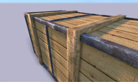 Lowpoly Large Wooden Crate