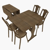 3d folding table chair