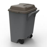 3d dustbin bin