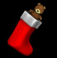 c4d christmas stocking