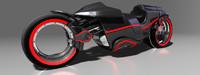 3d model motorbike motor