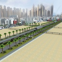 3d model highway dubai road