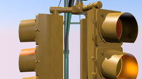new york traffic light 3d model
