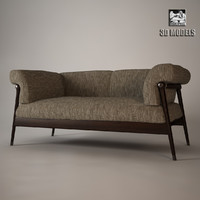 derby sofa giorgetti 3d model