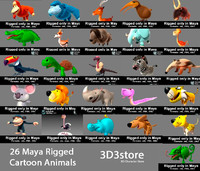 3d model animal rigged