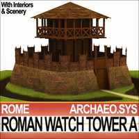 Roman Watch Tower Scene with Interiors A