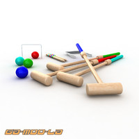 Toy Croquet Set