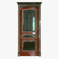 3d classic wood door model