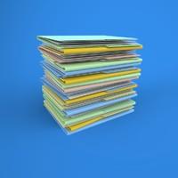 folder stack 3d model