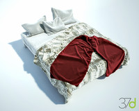 3d photorealistic bed 37d model