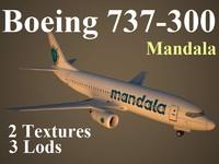 maya boeing 737-300 mdl