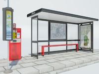 3d model london bus stop