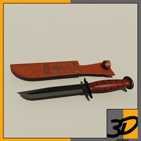 3ds max ka-bar contemporary combat