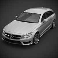 3d mercedes-benz amg cls63 shooting