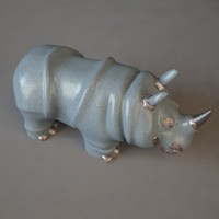 3d toy rhinoceros