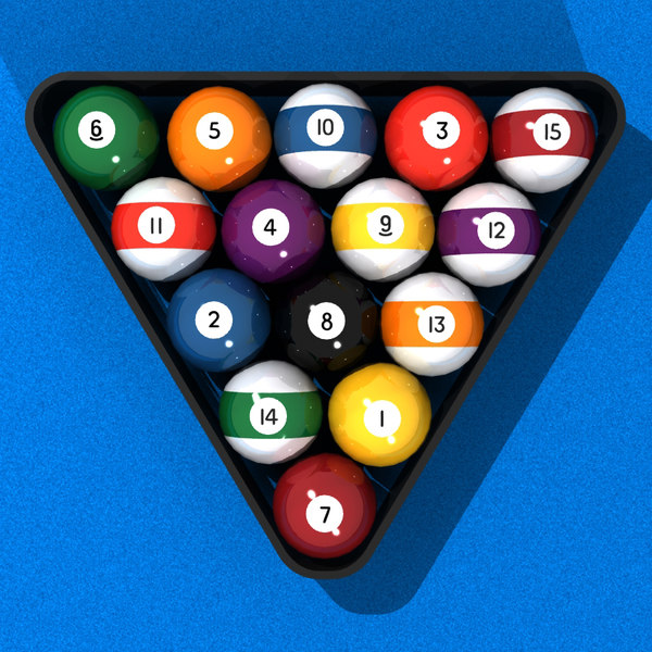 Pool Table Balls 3d Model Available In