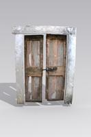 stone wooden door 3d model