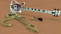 prince symbol guitar warwick 3d model