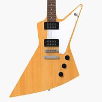 3d max gibson explorer guitar