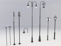 street lamps light 3d model