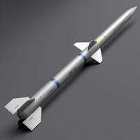 aim-120 missile 3d c4d