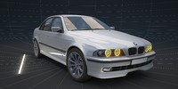 3d model of car bmw e39 520i