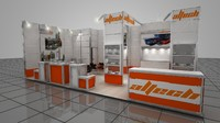 3ds max exhibition stand