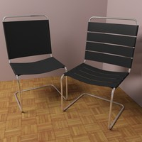 3d model modern leather chairs v1