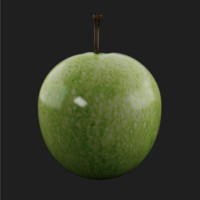 Green Apple (Low Poly)