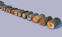 Lowpoly Wooden Logs