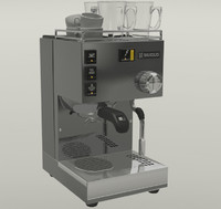 3d espresso machine model