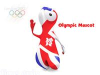 2012 olympic mascot 3d model