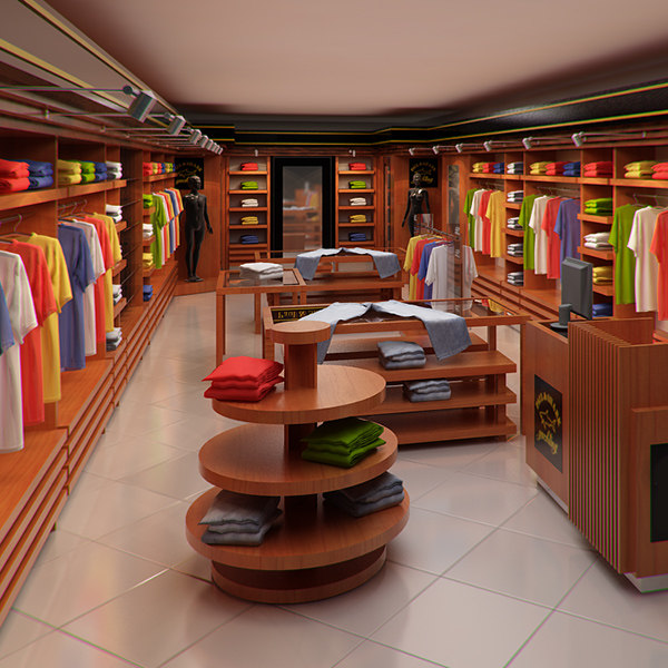 3d max store interior render ready - Clothing Store interior for Men and Women (Render Ready)... by AzuroStudio