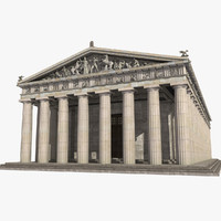 3d model parthenon temple landmark