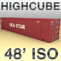 ISO shipping container 48 feet highcube