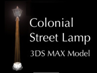Colonial street lamp