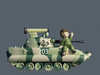 3d cartoon bmp2 boy