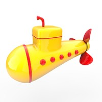 submarine yellow 3d model