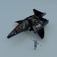 3d blend hyper spaceship