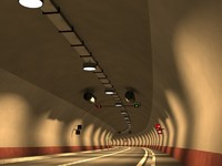 3d model road tunnel
