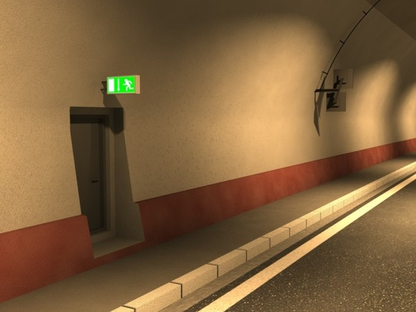 3d model road tunnel - Road tunnel... by laguf