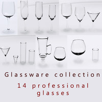 3d model glassware glass