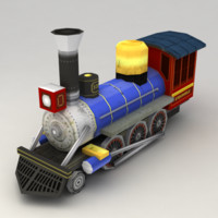 Low poly train v.3