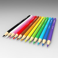 3d model colored pencils